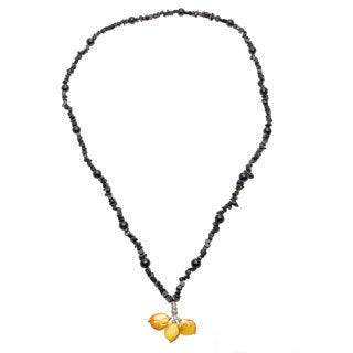 Karla Patin Pearl/ Obsidian Necklace