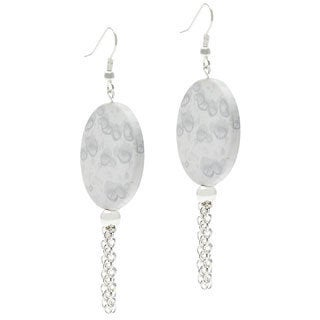 Handmade 'Silver June' Tassel Dangle Earrings