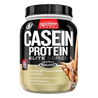 Six Star Professional Strength Casein Protein Elite Series Triple Chocolate Dietary Supplement (1.5 Pounds)