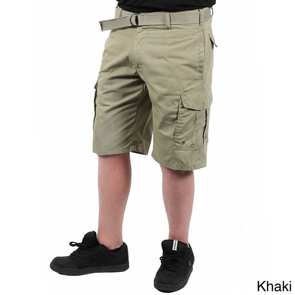 'Indigo 30' Men's Belted Cargo Shorts