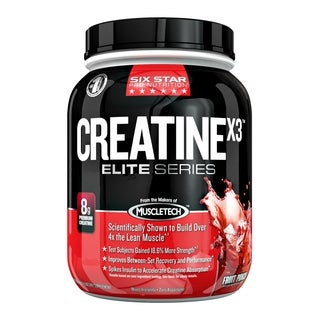 Six Star Creatine X3 Elite Series Fruit Punch Flavor (2.5 Pounds)