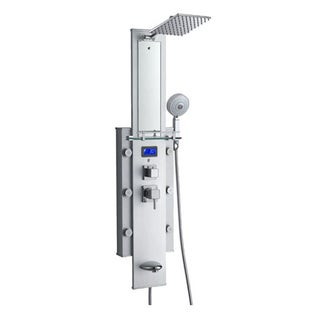 Blue Ocean 50-inch 6-nozzle Aluminum Shower Panel Tower