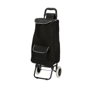 Black Eco-friendly Easy Rolling Lightweight Collapsible Black Shopping Cart Tote