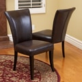 Christopher Knight Home Jordan Brown Leather Dining Chairs (Set of 2)