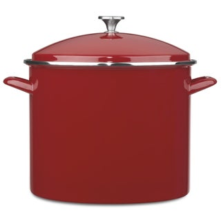 Cuisinart 20-Quart Enameled Stockpot with Cover - Red