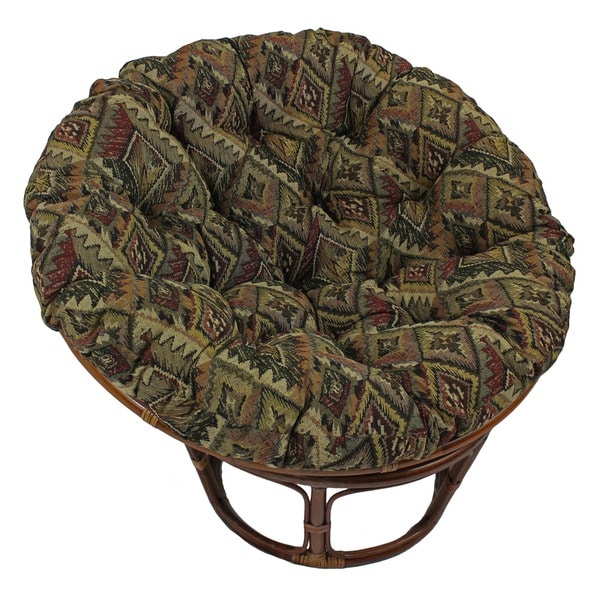 Blazing Needles Western Collection 48-inch Tapestry Papasan Cushion