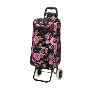 Eco-Friendly Easy Rolling Lightweight Collapsible Floral Shopping Cart Tote