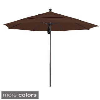 Commercial Grade 11-foot Aluminum/ Sunbrella Fabric Umbrella