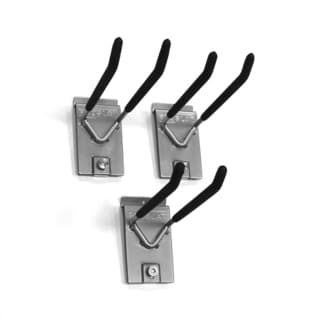Proslat 8-inch Silver Locking Double-hook (Pack of 3)