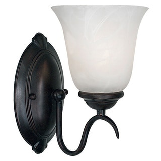 Fletcher 1-light Frosted Glass Oil-Rubbed Bronze Wall Sconce
