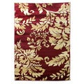 Tiffany 165 Floral Burgundy Area Rug (5'x7')