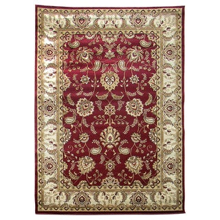 Tiffany 162 Burgundy Area Rug (5'x7')