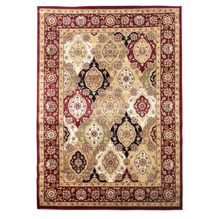 Tiffany 164 Burgundy Area Rug (5'x7')
