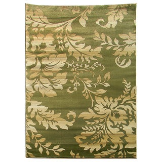 Tiffany 165 Floral Sage Green Area Rug (5'x7')