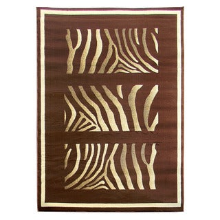 Tiffany 163 Animal Chocolate Brown Area Rug (5'x7')