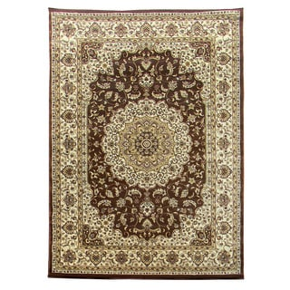 Tiffany Brown/ Camel Oriental Area Rug (5' x 7')