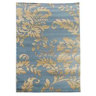 Tiffany 165 Floral Sky Blue Area Rug (5'x7')