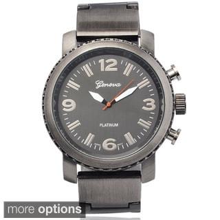 Geneva Platinum Men's Stainless Steel Round Dial Watch