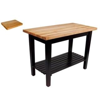 John Boos C4824-S 48x24 Classic Country Work Table & Cutting Board