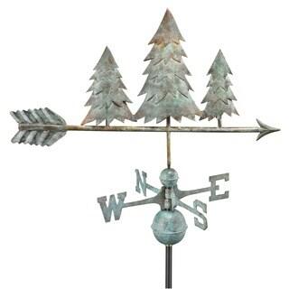 Good Directions Pine Trees Blue Verde Copper Weathervane
