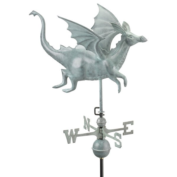Good Directions Dragon Blue Verde Copper Weathervane 12506383