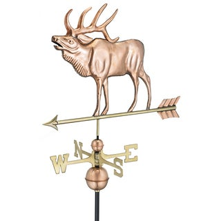 Good Directions Elk Polished Copper Weathervane