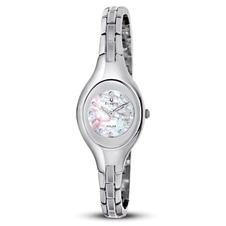 Bulova Women's Mother of Pearl Dial Stainless Steel Watch