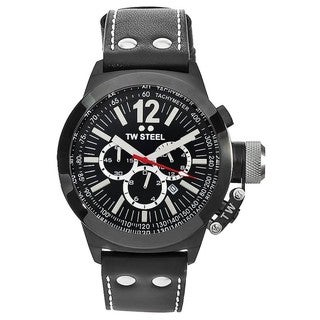 TW Steel Men's 'CEO' Canteen Black Dial Chronograph Watch