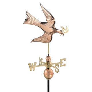 Good Directions Dove Polished Copper Weathervane