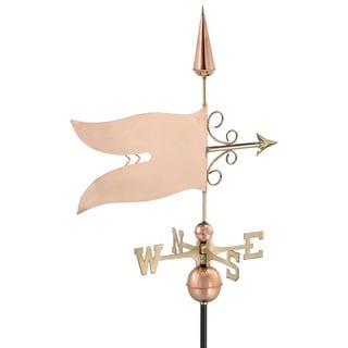 Good Directions Banner Polished Copper Weathervane