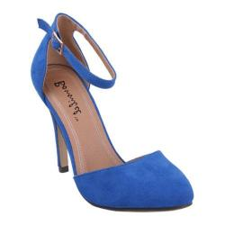 Women's Beston Alia-1 Blue Faux Suede