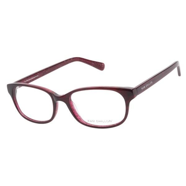 Kam Dhillon 3040 Scarlet Red Prescription Eyeglasses