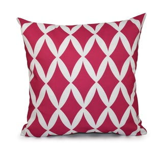 18x18-inch Hypoallergenic Faux Down Geometric Decorative Throw Pillow