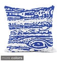 18x18-inch Hypoallergenic Faux Down Abstract Decorative Throw Pillow