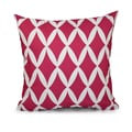 16x16-inch Hypoallergenic Faux Down Geometric Decorative Throw Pillow