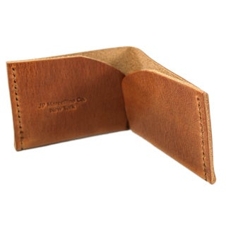 Hermann Oak Rustic Harness Leather Bi-fold Wrap-around Wallet
