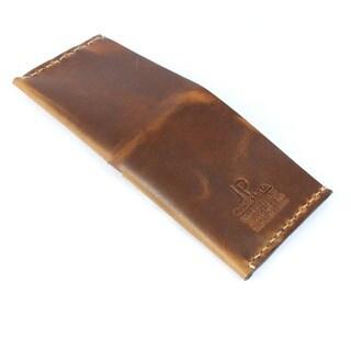 Horween Dublin Natural Leather Bi-fold Wrap-around Wallet