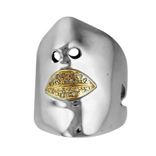 Sonia Bitton 14k Gold/Silver Designer Diamond Face Ring (H-I, SI1-SI2)