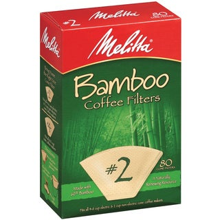 Melitta #2 Bamboo Paper Cone Coffee Filters (Pack of 160)