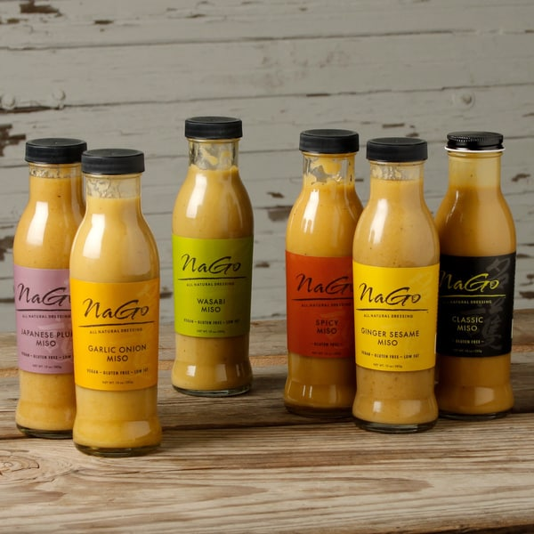Nago All Natural Miso Dressings Variety (Pack of 6) 12508845
