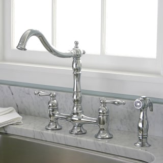 Charelstown Bridge-Style 2-Handle Chrome Kitchen Faucet