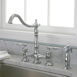 charelstown bridge style 2 handle chrome kitchen faucet charlestown two handle bridge style kitchen faucet