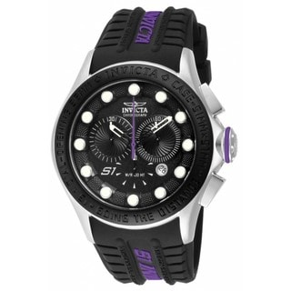 Invicta Men's 'S1 Rally Racer' Black Dial Purple Accent Chronograph Watch