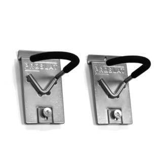 Proslat Silver Vertical Locking Bike Hook (Pack of 2)