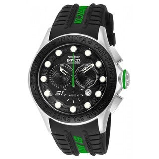 Invicta Men's 10842 'S1 Rally Racer' Green Accent Chronograph Watch