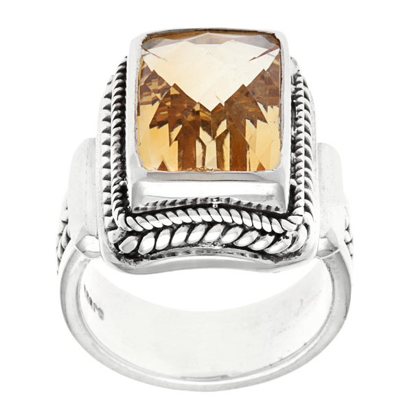 sterling silver citrine ring overstock shopping top