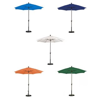 Poly Aluminum Crank and Tilt 9-foot Patio Umbrella with Base