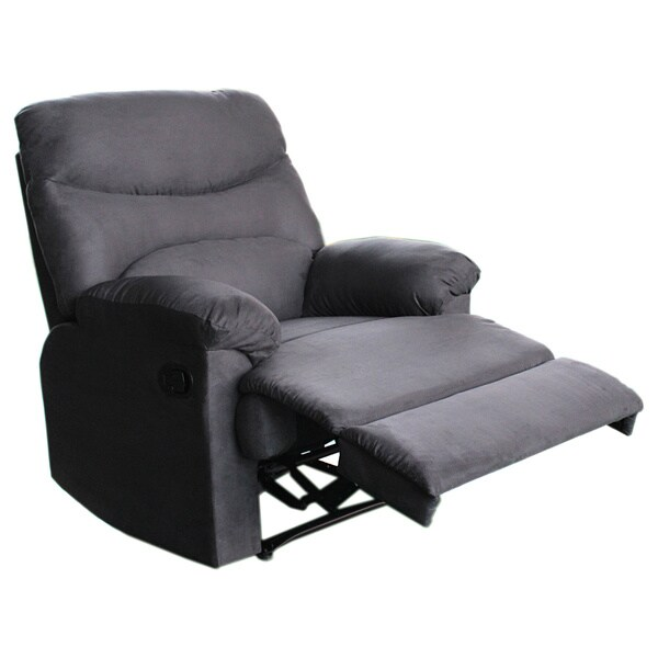 Tucker Charcoal Grey Recliner (As Is Item)