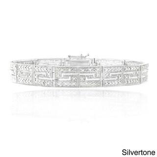 DB Designs 1/2ct TDW Diamond Greek Key Tennis Bracelet