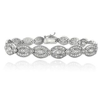 DB Designs 1/4ct TDW Diamond Marquise Link Bracelet (I-J, I2-I3)